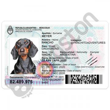 nuevo DNI argentino para mascotas perros gatos