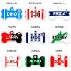 chapitas para perros clubes de fútbol argentino forma de hueso
