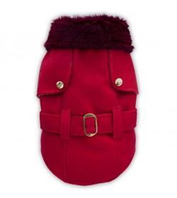 Tapado de paño rojo ropa para perros indumentaria canina Dogston