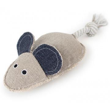 Ratón rata de lona juguete para perros