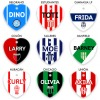 chapitas para perros clubes de fútbol argentino boca river