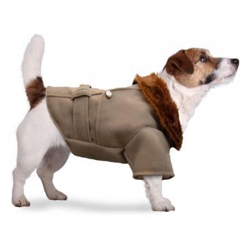 Tapado de paño beige jack russell ropa para perros indumentaria canina Dogston