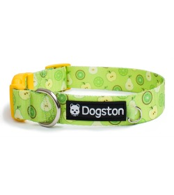 Collar de frutas verdes limón kiwi para perros