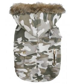 Chaleco camuflado verde y blanco ropa militar army para perros indumentaria canina Dogston