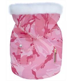Chaleco camuflado militar rosa Pink Soldier Ropa para perros